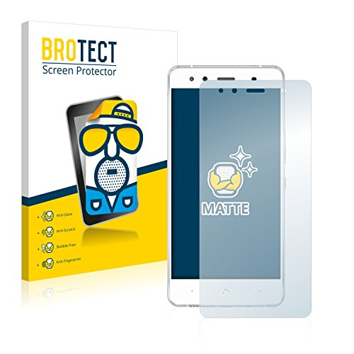 BROTECT 2X Entspiegelungs-Schutzfolie kompatibel mit BQ Aquaris X5 Bildschirmschutz-Folie Matt, Anti-Reflex, Anti-Fingerprint