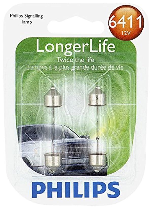 Philips 6411 LongerLife Miniature Bulb, 2 Pack