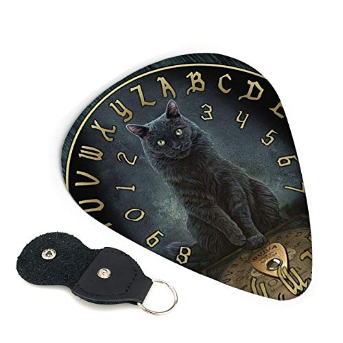 Efyh Black Cat Spirit Magic Ouija Board 6 Pack Guitar Picks/Celluloid For Electric Acoustic Or Bass Guitar