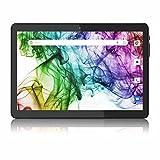 Tablet 10 pollici Android 8.1 Tablet PC con due slot per schede SIM, Quad Core, 1280 x 800 HD IPS, 16 GB di memoria, 6000 Amh, doppia fotocamera, WiFi/GPS/Bluetooth (nero)