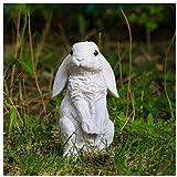 KEEBON Pequeño Conejo Patio del jardín Decoración Animal de la Resina Escultura Paisaje Paisaje
