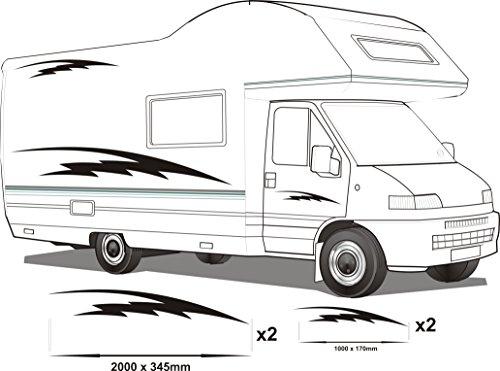 Smarts-Art vinilo pegatinas de furgoneta gráfica dodoskinz juego de autocaravanas RV CARAVAN promedio ponderado set7