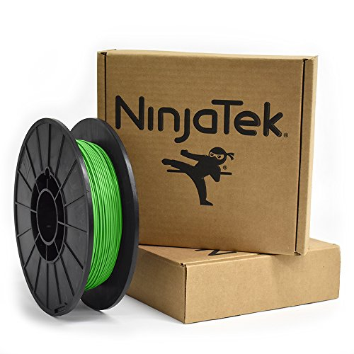 NinjaTek 3DNF06117505 NinjaTek NinjaFlex TPU Filament, 1.75mm, TPE.5kg, Grass (Green) (Pack of 1)