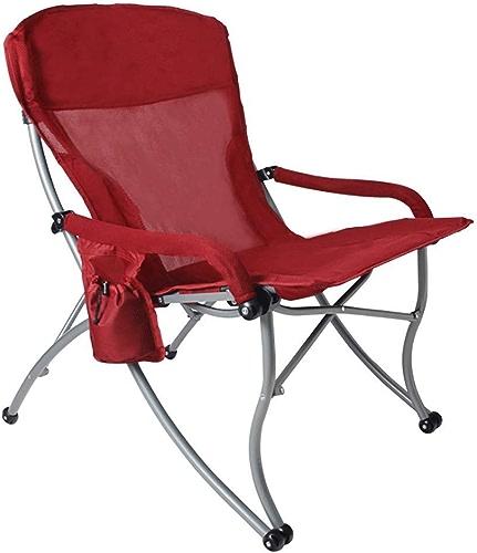 IRVING Chaises de Camping Rouges surdimensionnées