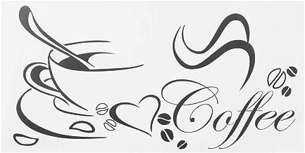 HERCHR 2 Stks Onderscheidende Koffie Cup Patroon Muursticker, Muur Art Decor Decals Muurdecoratie voor Keuken Woonkamer