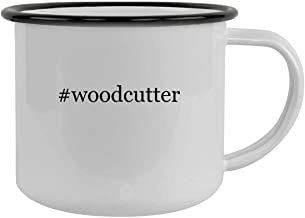 #woodcutter - 12oz Hashtag Camping Mug Stainless Steel, Black