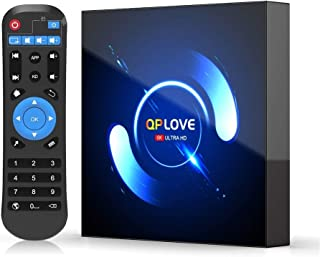 QPLOVE Android 10.0 TV Box 4GB RAM 32GB ROM, H616 Quad-Core 64bit WiFi-Dual 5G/2.4G BT5.0 Ultra HD 3D 6K H.265 Smart TV Box