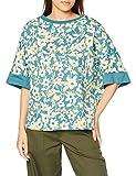 [スーパーハッカ] ロードトリップテーマ刺しゅう単色フラワーポンチョ風 Tシャツ 04951302 レディース F ブルー