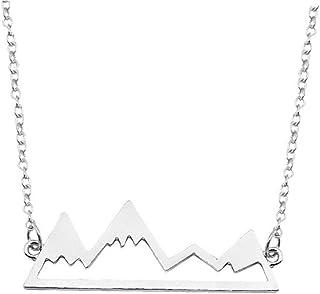 Aisoway Collana Mountain Lega Picchi Collana Openwork Collo della Collana Ornamento Montagna Ornamento Ciondolo per La Fem...