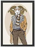 Fashion Animal Widder Kunstdruck Poster -ungerahmt- Bild