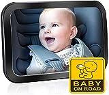 Specchietto Retrovisore Bambini Grande, Specchietto Auto Bambino, Specchietto Neonato Regolabile per Sicurezza Poggiatesta Posteriore Auto, Specchio Retrovisore Interno per Auto Sedile Posteriore
