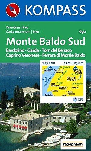 Carta escursionistica n. 692. Lago di Garda. Monte Baldo Sud, Bardolino, Garda, Torri di Benaco, Caprino Veronese, Ferrara di Monte Baldo. Adatto a GPS.... DVD-ROM