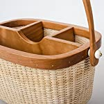 Teng-Tian-Nantucket-Utensil-Caddy-Silverware-Napkin-Holder-and-Condiment-Organizer-Multi-Purpose-Rattan-Caddy-Ideal-for-Kitchen-Dining-Entertaining-Tailgating-Picnics-and-Much-More