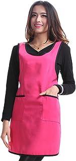 598692d1b81 Mignon Tablier pour femmes avec poches Rose Rouge