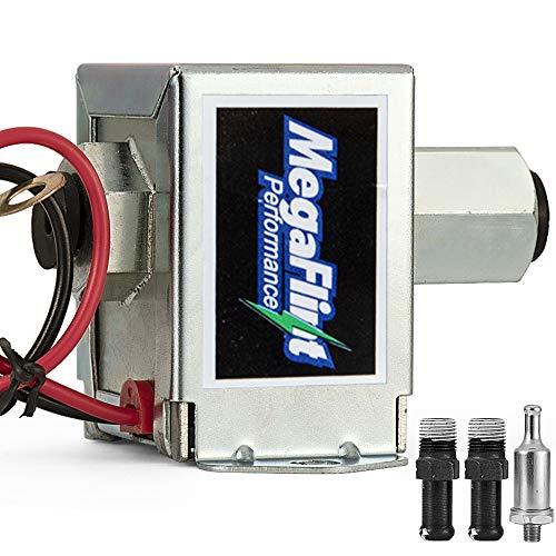 MegaFlint 12V Upgrate Universal Electric Fuel Pump Metal Solid (2.5-4 PSI) Low Pressure for Petrol & Diesel EP12S HEP-02A