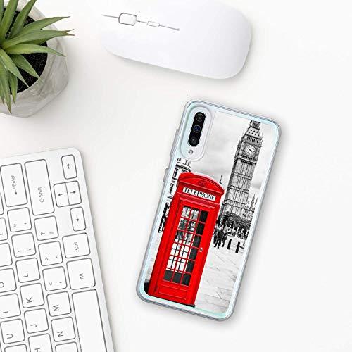 Big Ben Hülle Samsung Galaxy Case A10 A20 A30 A40 A50 A70 M10 M20 M30 2019 Plastik Silikon phone case Stadt london Uhr Glockenspiele Glocke Turm
