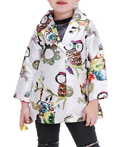 Xiang Ru Xiang Ru Sommer Geblümt Herbst Frühling Jacke Mantel Outwear Trenchcoat Long Sleeve Bunt 110