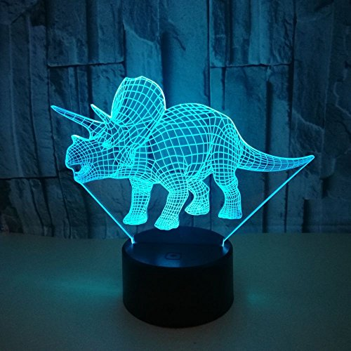 Night Light for Kid 3D LED Visual 16 Color Changing Atmosphere Lamp Home Office Decorations Lamp Sleep Lighting Birthday Christmas Gifts Boy Toy