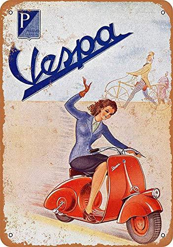 Mr.sign Vespa Electric Cars Blechschilder Vintage Metall Poster Warnschild Retro Schilder Blech Blechschild Wanddekoration Malerei Bar Cafe Restaurant Garten Park