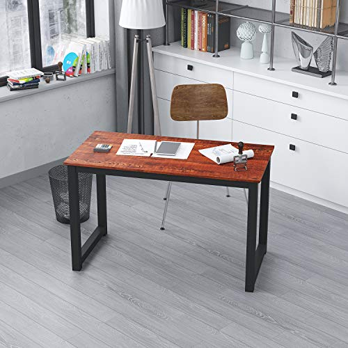AMA Maker Modern Computer Desk Stylish Office Table Workstation for Home Office (47inch, Sandalwood)