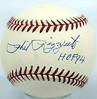 "Phil Rizzuto Single Signed Baseball""9 (Budig, HOF)"" PSA DNA (card)"