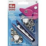 Prym 390120 Nähfrei-Druckknopf Jersey gl. Kappe Messing 10 mm silberfarbig, Metal, 12 mm