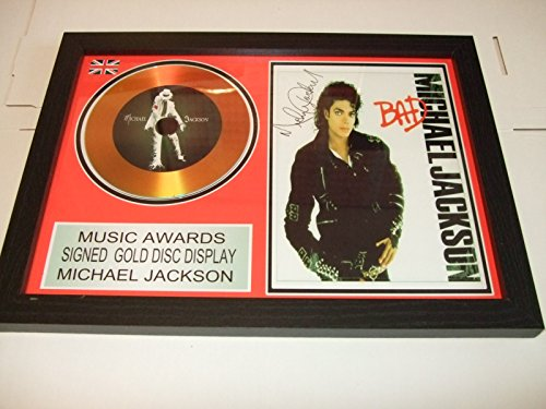 gold disc frames Michael Jackson Dédicacé Disque d'or