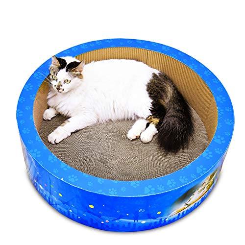 Aida Bz Grand Chat ondulé Bol de Cylindre en Forme de Chat litière Chat Scratch Board Chat Pet Griffes Jouet Grand Chat litière