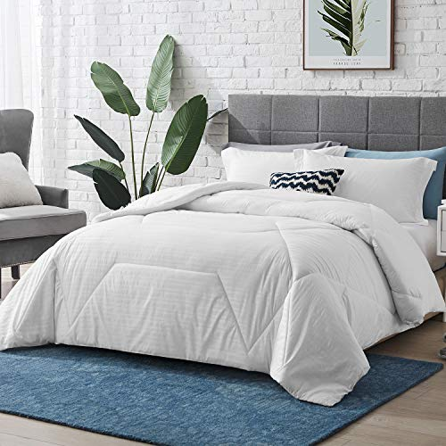 Hansleep Bedding SuperKing Duvet Quilt 10.5 Tog for All Seasons 250x205cm, White Hypoallergenic Box-Stitching Bed Coverless Duvets with Corner Tabs - Machine Washable