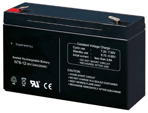 crooza Universal Blei Akku Ersatzakku 6V12Ah 6V 12Ah Batterie für Kinderfahrzeug