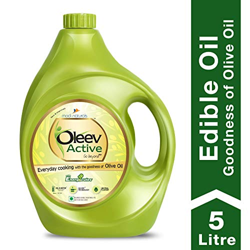 Oleev Active, Goodness of Olive Oil for Everyday Cooking, Edible Oil, Jar, 5L