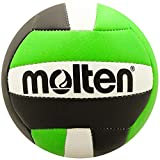 Molten - Mini Pelota de Voleibol, Juventud Unisex, Molten Mini Voleibol, V200-BLK/LIM, Negro y Verde