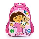 Cartoon Sac à Dos d'école Dora École Maternelle Cartable Filles 3-5-6 Ans