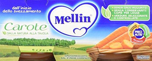 Mellin Omogeneizzato Carote - 24 Vasetti da 80 gr