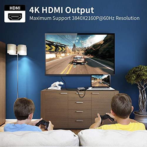 Selore & S-Global USB C zu Dual HDMI Adapter 4K@60Hz, Typ C zu HDMI Konverter für MacBook Pro 2020/2019/2018, MacBook Air, Chromebook Pixel, LenovoYoga 920/Thinkpad T480, Dell XPS 13/15