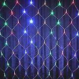 Luces LED de red 96 LED Cadena de hadas Malla decorativa Luces LED de Navidad conectables LED coloridas para bodas Cóctel de cumpleaños Barbacoa Bistro Cafe