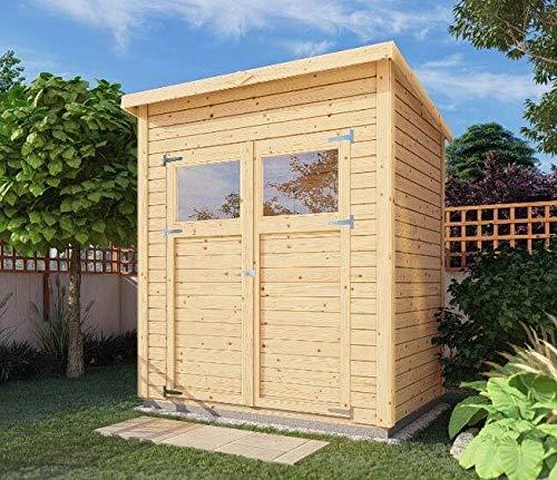 Alpholz Gerätehaus Mollie aus Fichten-Holz | Gartenhaus mit 14mm Wandstärke | Holzhaus inklusive Montagematerial | Geräteschuppen Größe: 191 x...