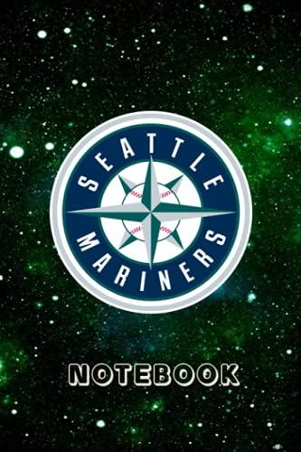 Seattle Mariners : Seattle Mariners Striped Notebook & Journal Sport Fan Essential | Seattle Mariners Fan Appreciation #24