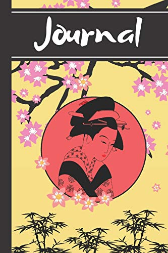 Journal: Geisha Oriental Chinese Japanese Eastern Art Gift - Lined Journal, 130 pages, 6