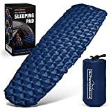 OutdoorsmanLab Ultralight Sleeping Pad - Ultra-Compact for Backpacking, Camping, Travel w Air-Support Cells