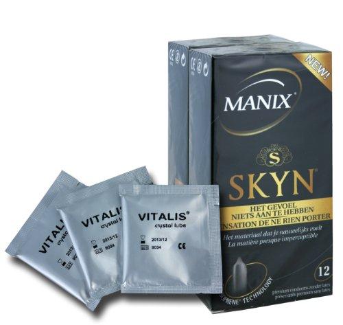 24 Mates (Manix) SKYN - latexfreie Kondome aus SensoprèneTM + 3 x Vitalis Gleitgel Sachets á 5 g Gratis