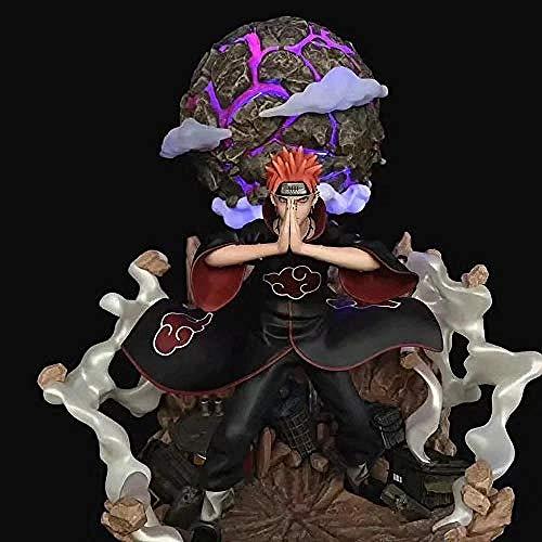 Naruto Pain Anime Figur Charakter Modell kann siebenfarbige Licht leuchten Figur handgefertigte Statue Kinderspielzeug Geschenk 38CM