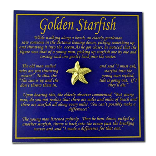 StockPins Starfish Making a Difference Story Card - Set of 25