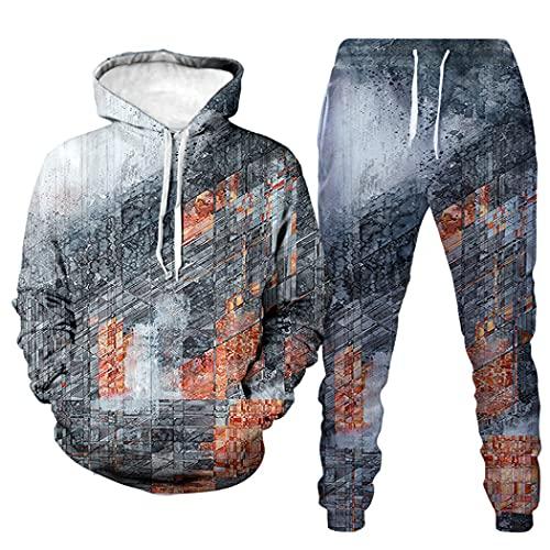 Sudadera con capucha unisex con estampado de puntos de pintura 3D, sudadera con capucha de manga larga, trajes de calle, Cxtz-162, XL
