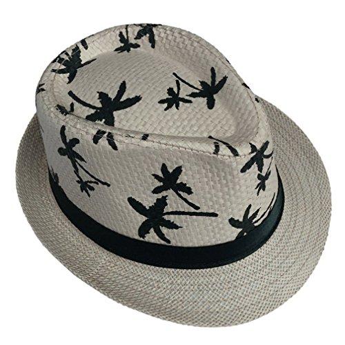 Sombrero De Fieltro Estilo para Hawaiano Mujer Blower Jazz Mode De Marca Hat Moda Vintage Sombrero De Panamá Protector Solar Playa Sombrero Envoltura En La Cabeza 58 Cm (Color : Beige, Size : 58cm)