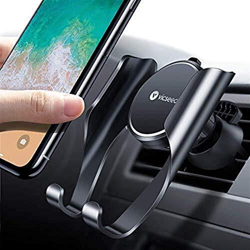 DSJSP Soporte de teléfono de coche, soporte universal para coche, soporte de teléfono móvil para coche, compatible con iPhone 11 XR X 8 7 6 Galaxy Note 10 S10+ S10e S9 S8 S7 J6 J5 HTC LG Huawei