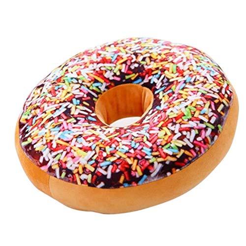 Uphsang Donut Kissen Doughnut Dekokissen Sitzkissen Kuschelkissen Donutkissen groß Durchmesser 40cm