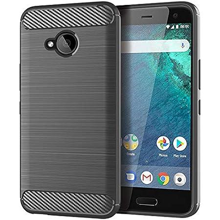 Gosento HTC U11 Life/Android One X2 ケース シリコン 衝撃吸収カバー HTC U11 Life 落下防止 衝撃吸収 防指紋 ケース (グレー)