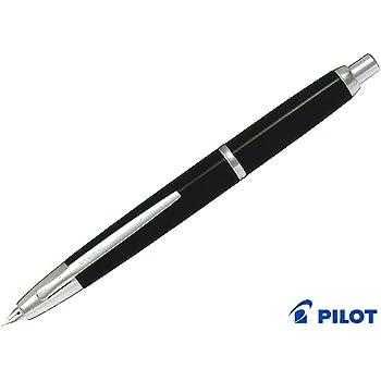 パイロット 万年筆 ノック式 キャップレス デシモ ブラック 細字(F) FCT-15SR-B-F