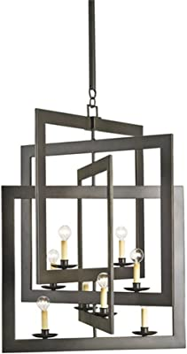 Amazon.com: CWI Lighting 3 Light Chandelier with Brown ...